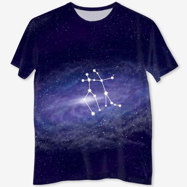 Футболка с полной запечаткой «Созвездие Близнецы. Галактика»