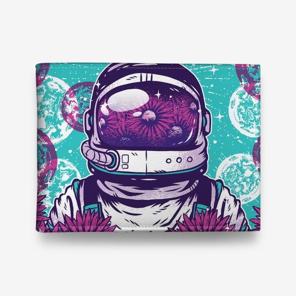 Кошелек «Космонавт с цветами»