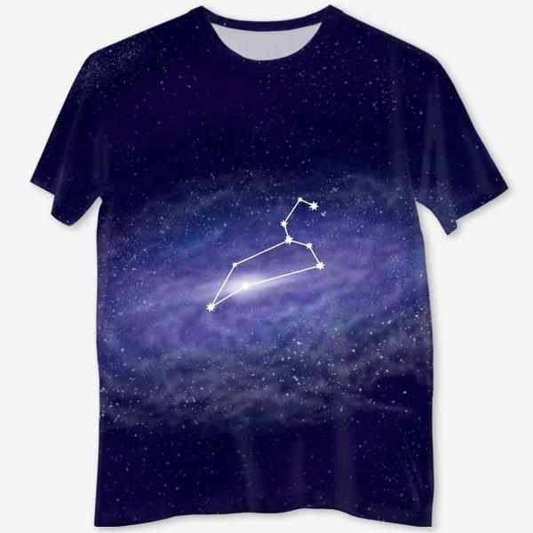 Футболка с полной запечаткой «Созвездие Лев. Галактика»