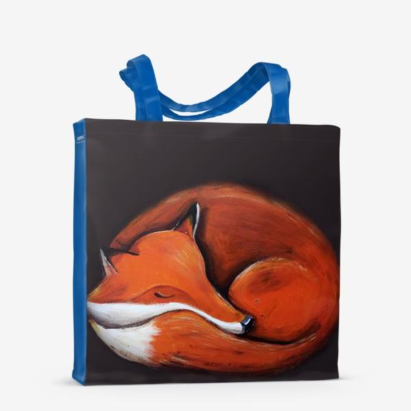 Сумка-шоппер «Спящая лисица»