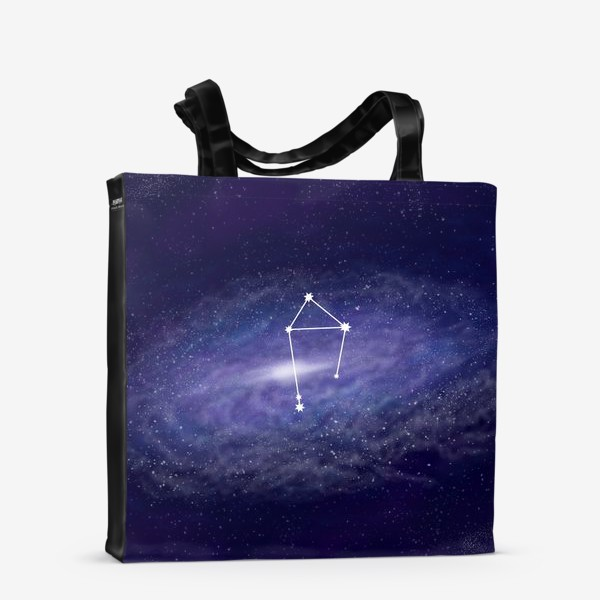 Сумка-шоппер «Созвездие Весы. Галактика»