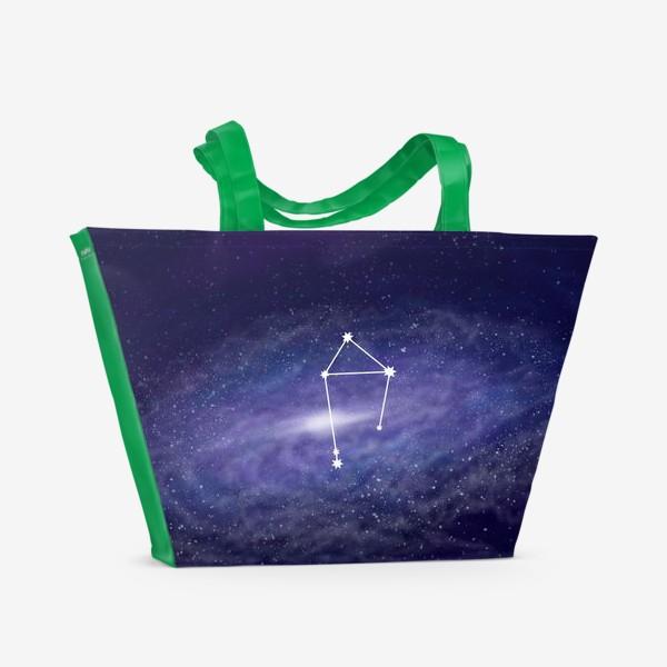 Пляжная сумка «Созвездие Весы. Галактика»