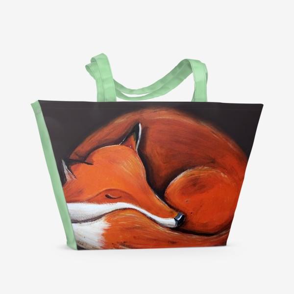 Пляжная сумка «Спящая лисица»