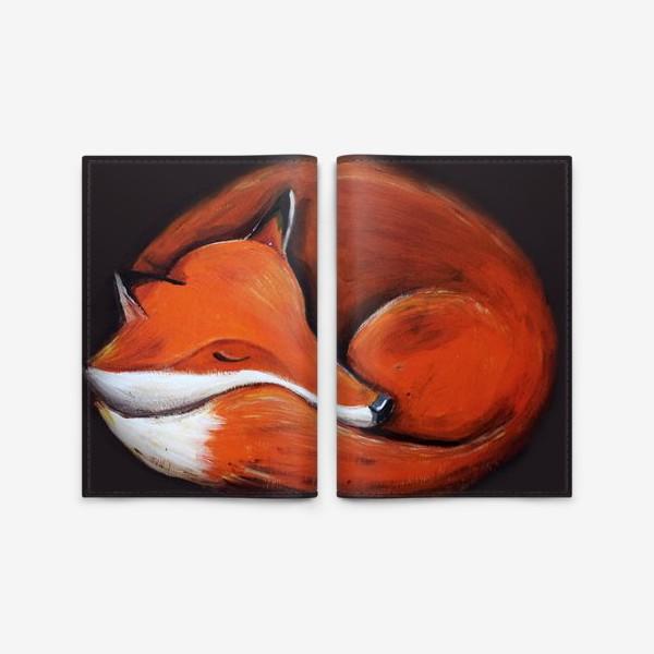 Обложка для паспорта «Спящая лисица»