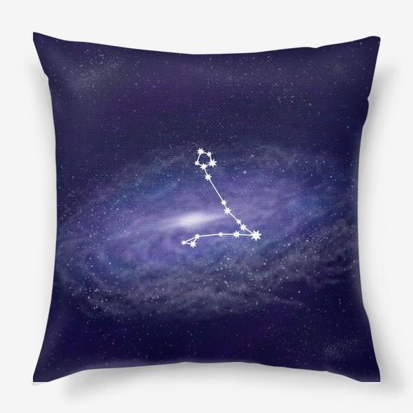 Подушка «Созвездие Рыбы. Галактика»