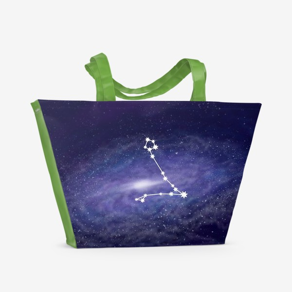 Пляжная сумка «Созвездие Рыбы. Галактика»