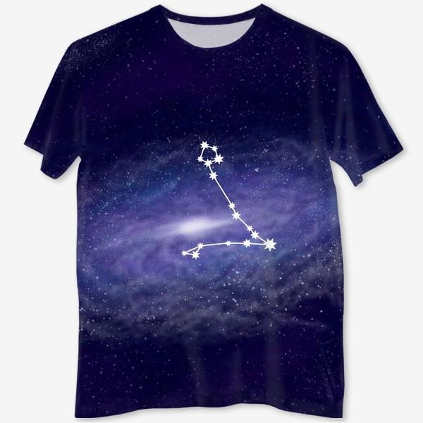 Футболка с полной запечаткой «Созвездие Рыбы. Галактика»