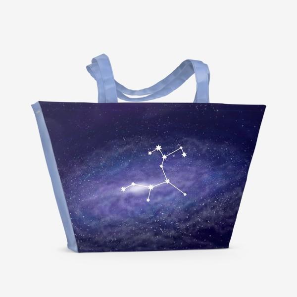 Пляжная сумка «Созвездие Стрелец. Галактика»