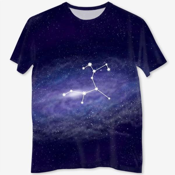 Футболка с полной запечаткой «Созвездие Стрелец. Галактика»
