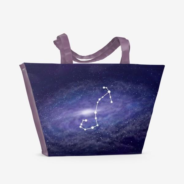 Пляжная сумка «Созвездие Скорпион. Галактика»