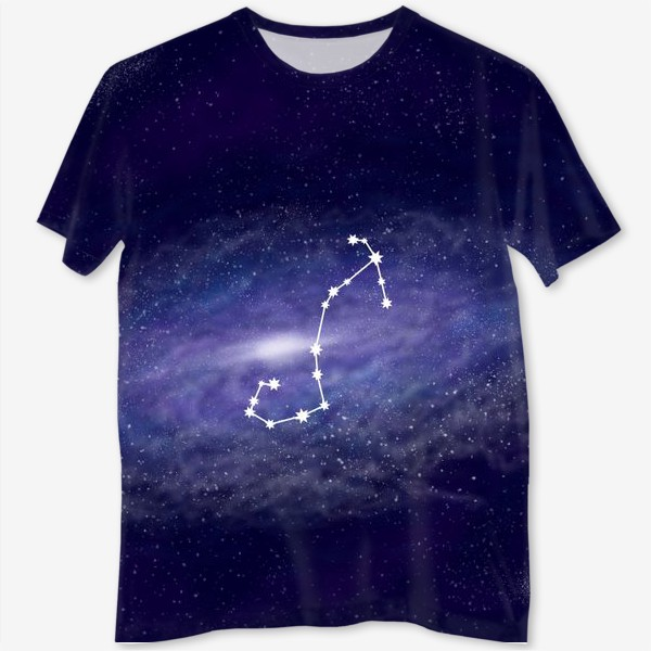 Футболка с полной запечаткой «Созвездие Скорпион. Галактика»