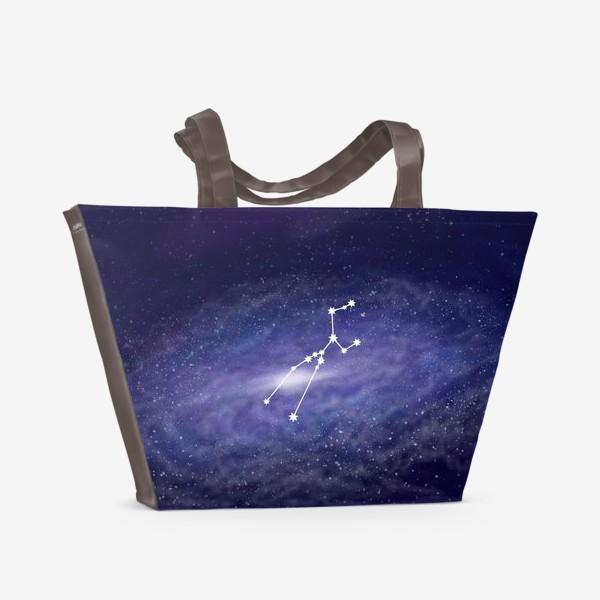 Пляжная сумка «Созвездие Телец. Галактика»
