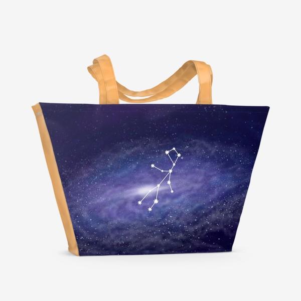 Пляжная сумка «Созвездие Дева. Галактика»