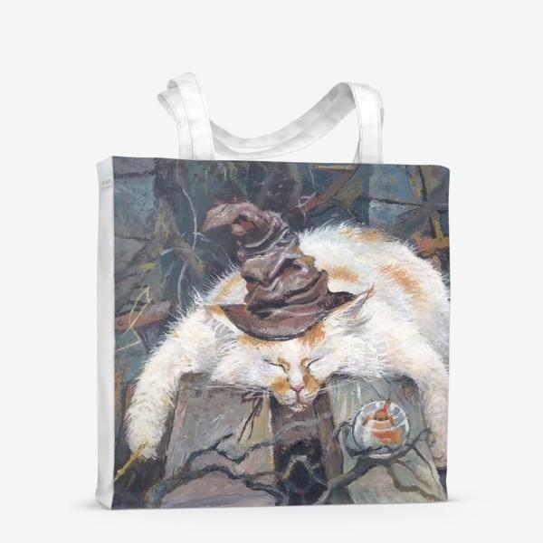 Сумка-шоппер «Волшебник,кот»