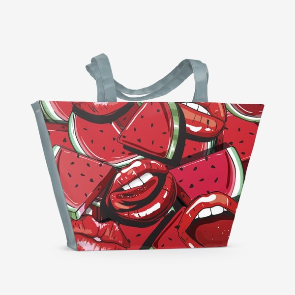 Пляжная сумка «Sweet lips»
