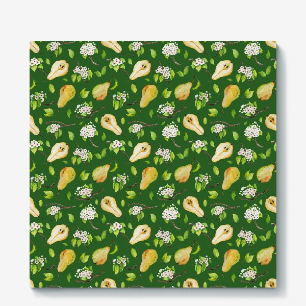 Холст «Грушевый сад. На зеленом. »