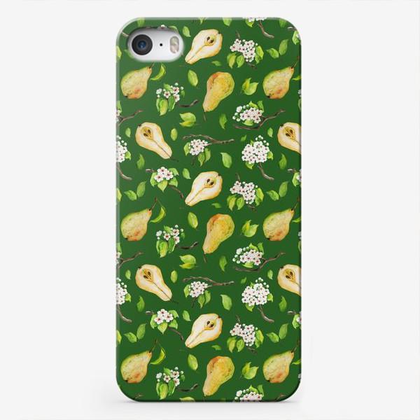 Чехол iPhone «Грушевый сад. На зеленом. »