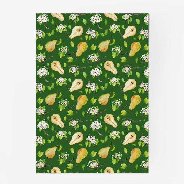 Постер «Грушевый сад. На зеленом. »
