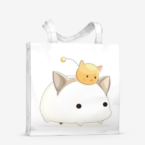Сумка-шоппер «Кавайный кот»