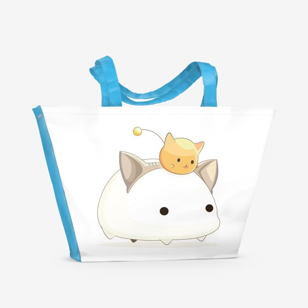 Пляжная сумка «Кавайный кот»