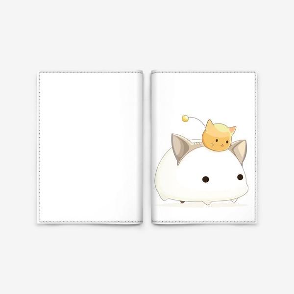 Обложка для паспорта «Кавайный кот»
