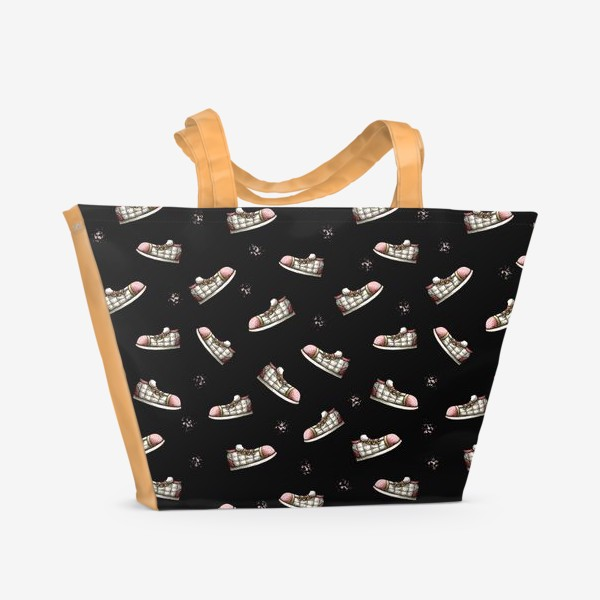 Пляжная сумка «Паттерн с обувью»