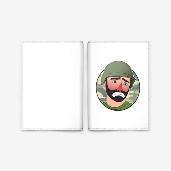 Обложка для паспорта «грустный клоун в каске»