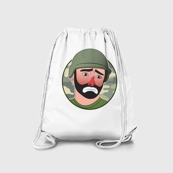 Рюкзак «грустный клоун в каске»