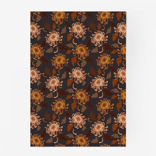 Постер «осенние хризантемы»