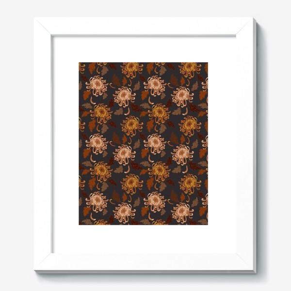 Картина «осенние хризантемы»