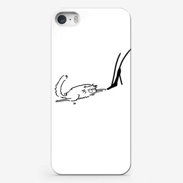 Чехол iPhone «Кот и туфель »