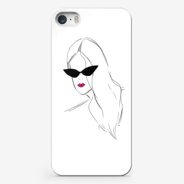 Чехол iPhone «Девушка в черных очках. Fashion-girl»