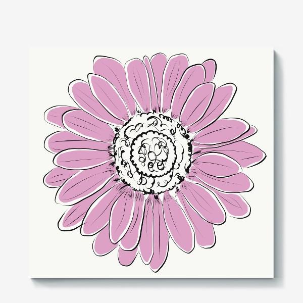 Холст «Розовая ромашка»