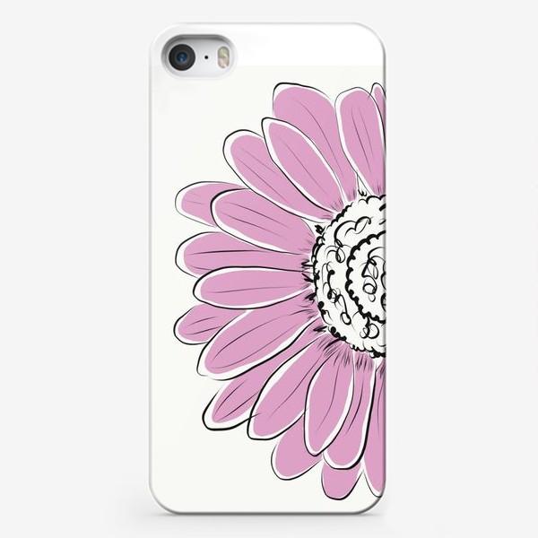 Чехол iPhone «Розовая ромашка»