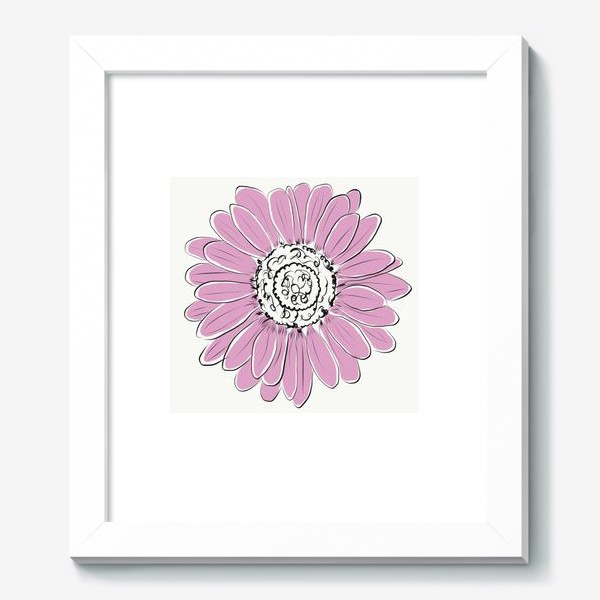 Картина «Розовая ромашка»