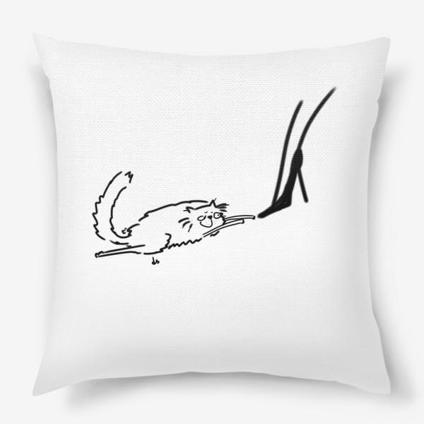 Подушка «Кот и туфель »