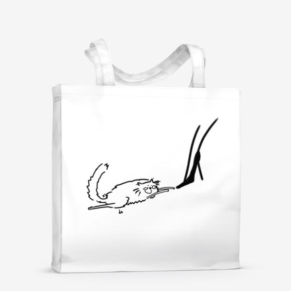Сумка-шоппер «Кот и туфель »