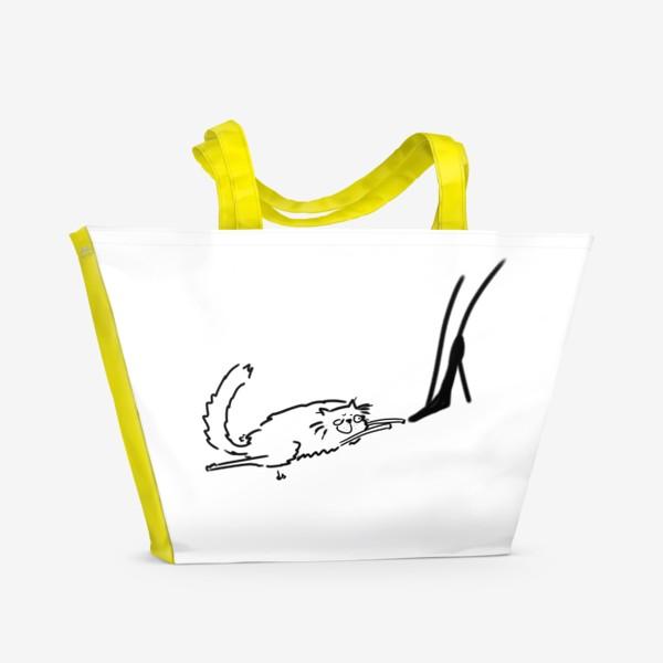 Пляжная сумка «Кот и туфель »