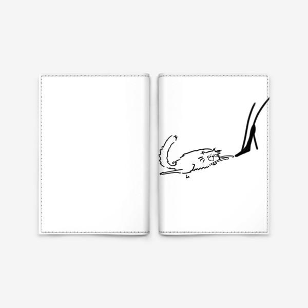 Обложка для паспорта «Кот и туфель »