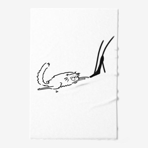 Полотенце «Кот и туфель »