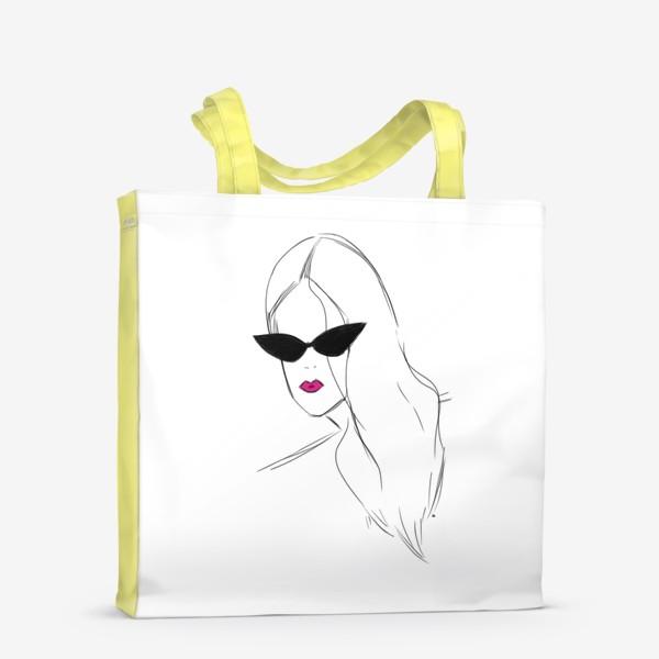 Сумка-шоппер «Девушка в черных очках. Fashion-girl»