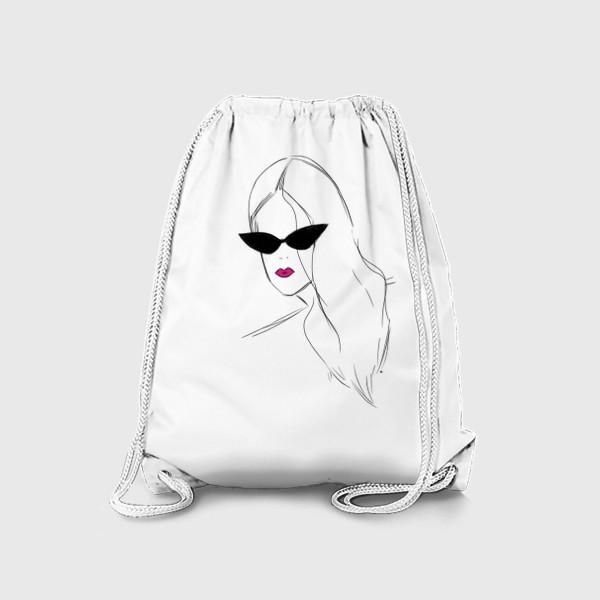 Рюкзак «Девушка в черных очках. Fashion-girl»
