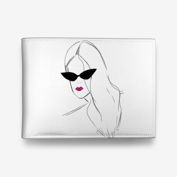 Кошелек «Девушка в черных очках. Fashion-girl»