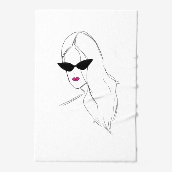 Полотенце «Девушка в черных очках. Fashion-girl»