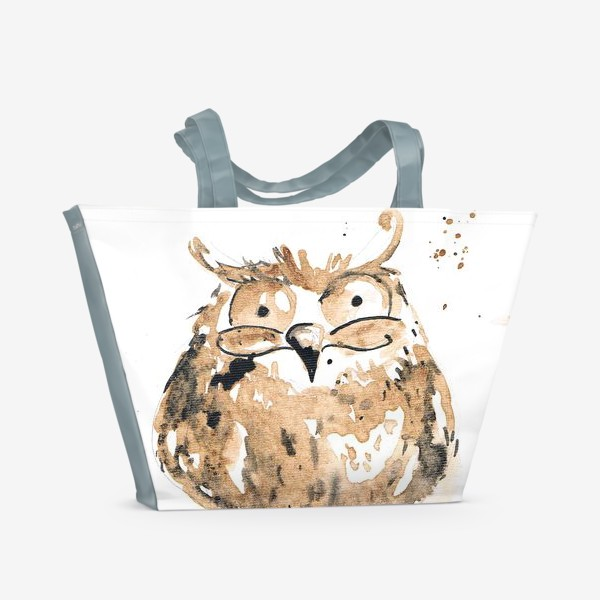 Пляжная сумка «Coffee owl»