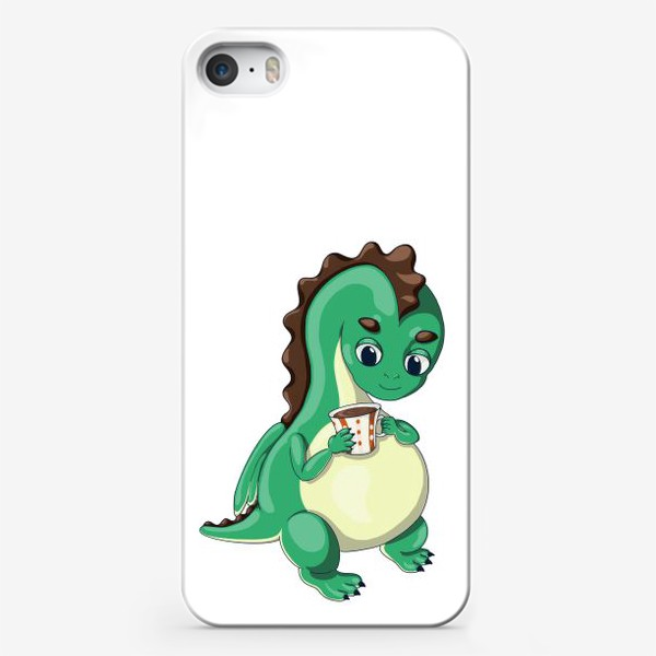 Чехол iPhone «Чайный дракончик (зелёный)»