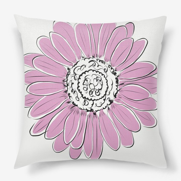 Подушка «Розовая ромашка»