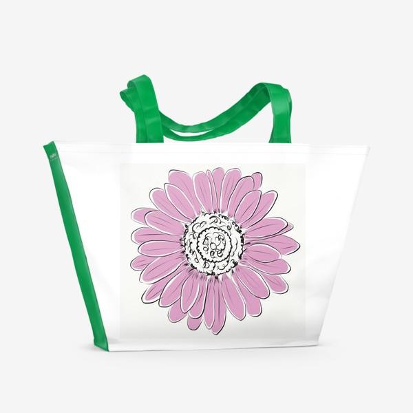 Пляжная сумка «Розовая ромашка»