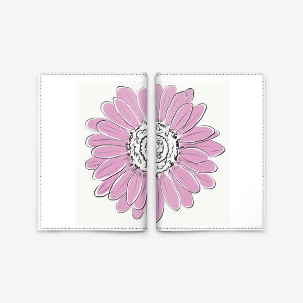 Обложка для паспорта «Розовая ромашка»