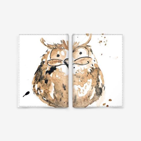 Обложка для паспорта «Coffee owl»